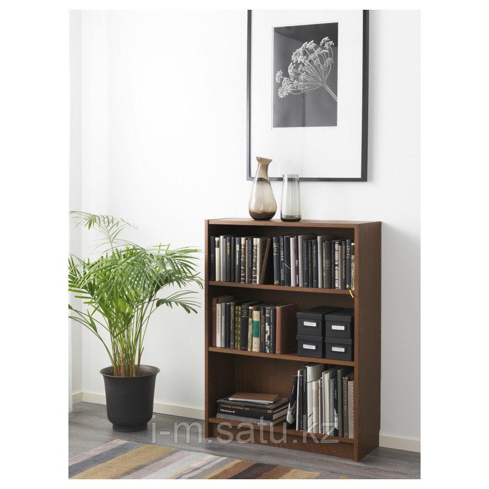 БИЛЛИ Стеллаж, коричневый ясеневый шпон, 80x28x106 см