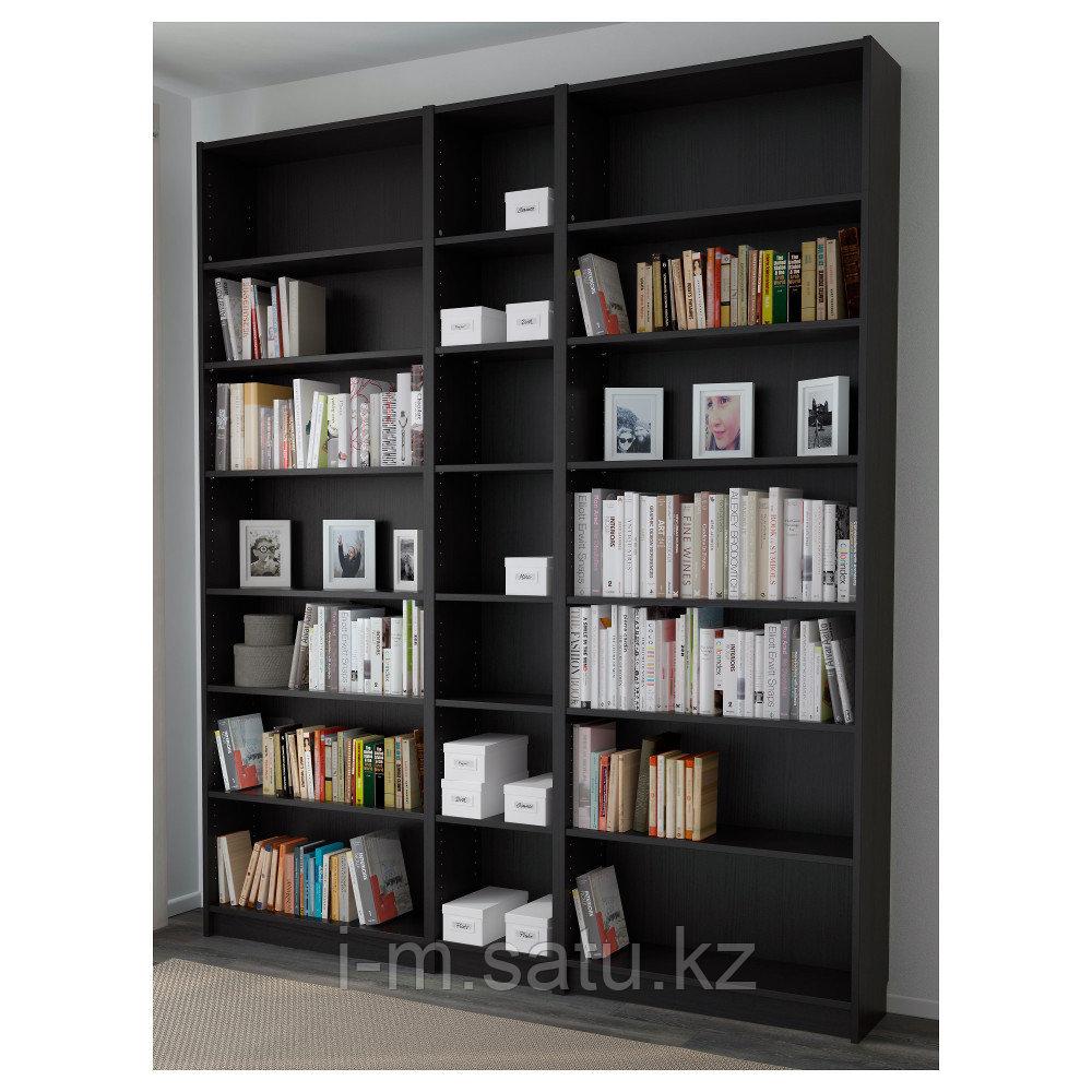 БИЛЛИ Стеллаж, черно-коричневый, 200x28x237 см