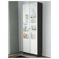 БИЛЛИ / МОРЛИДЕН Стеллаж, черно-коричневый, 80x30x202 см, фото 1
