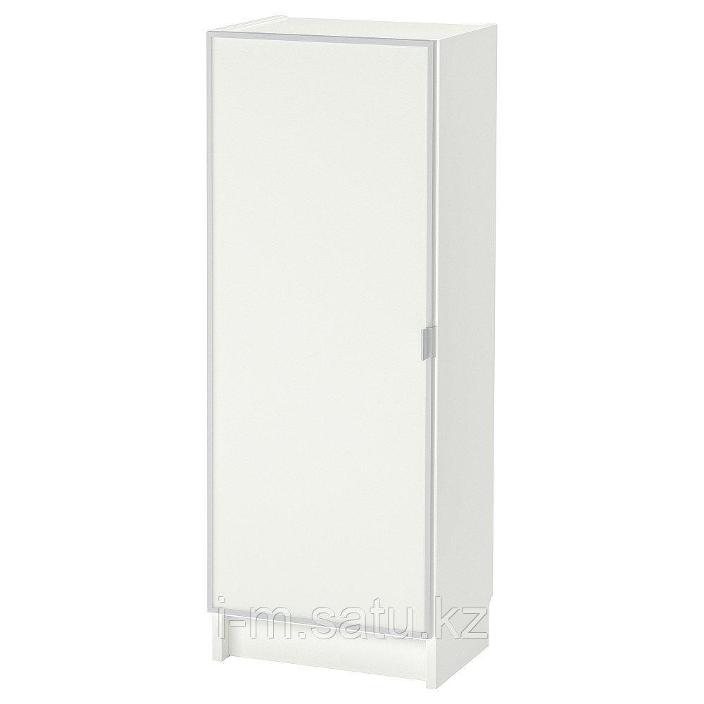 БИЛЛИ / МОРЛИДЕН Шкаф книжный со стеклянной дверью, белый, стекло, 40x30x106 см
