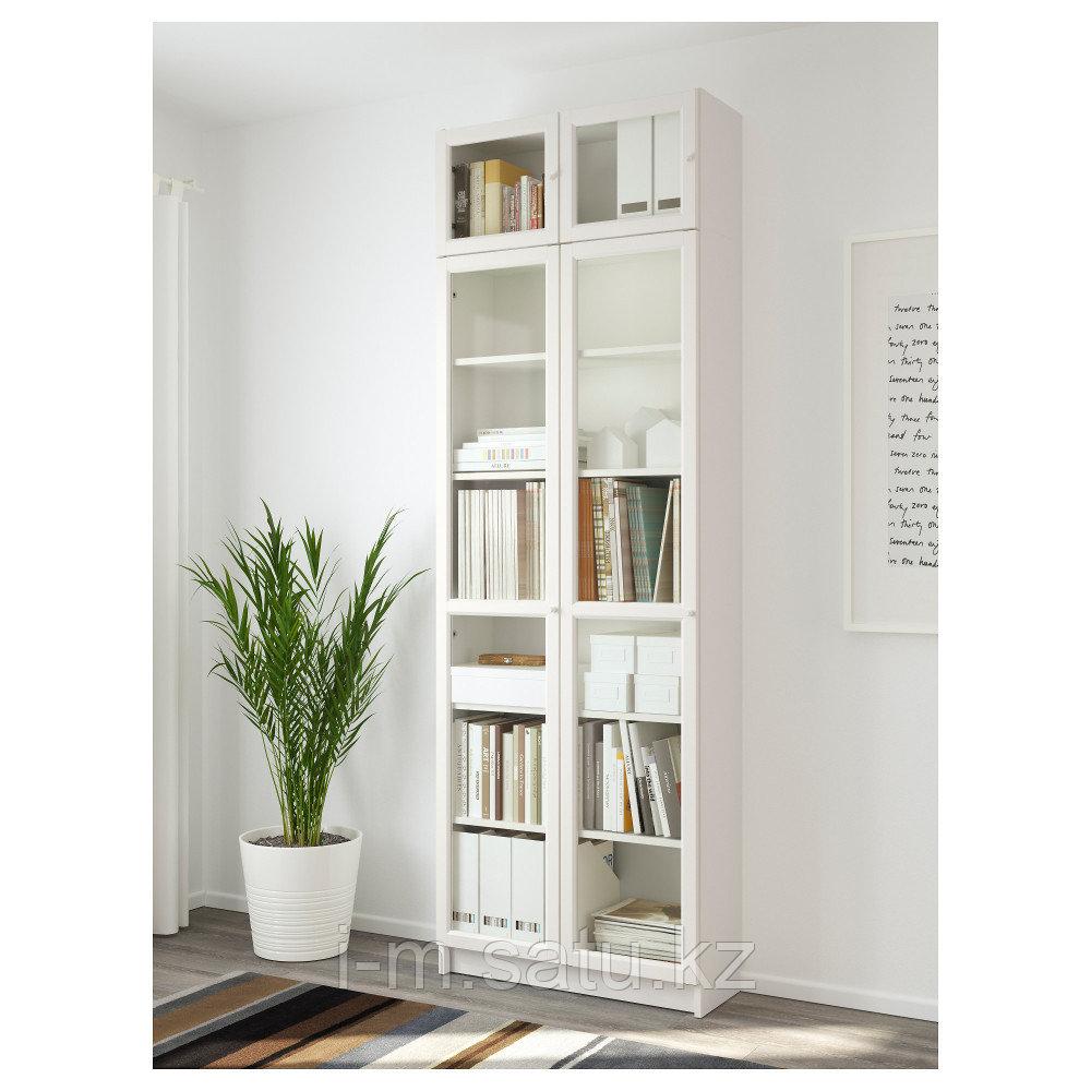 БИЛЛИ / ОКСБЕРГ Стеллаж, белый, 80x30x237 см