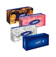 """Салфетки Selpak """"Maxi"""", 3-х слойные, 100 шт., размер листа 21,5*21 см, в картонном боксе, белые"""