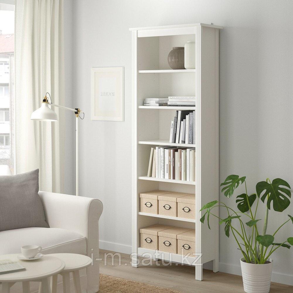 БРУСАЛИ Стеллаж, белый, 67x190 см