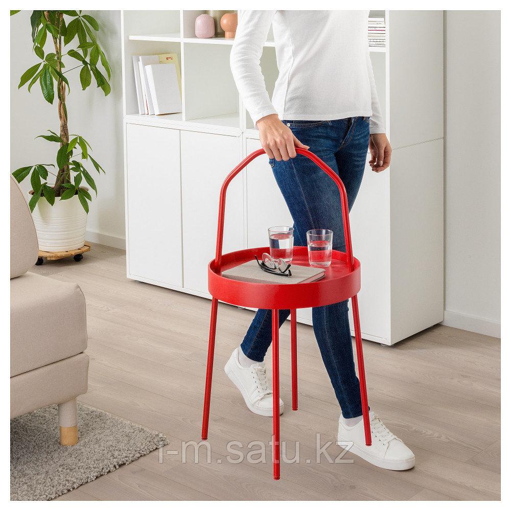 БУРВИК Придиванный столик, красный, 38 см
