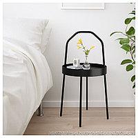 БУРВИК Придиванный столик, черный, 38 см, фото 1