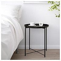 ГЛАДОМ Стол сервировочный, черный, 45x53 см, фото 1