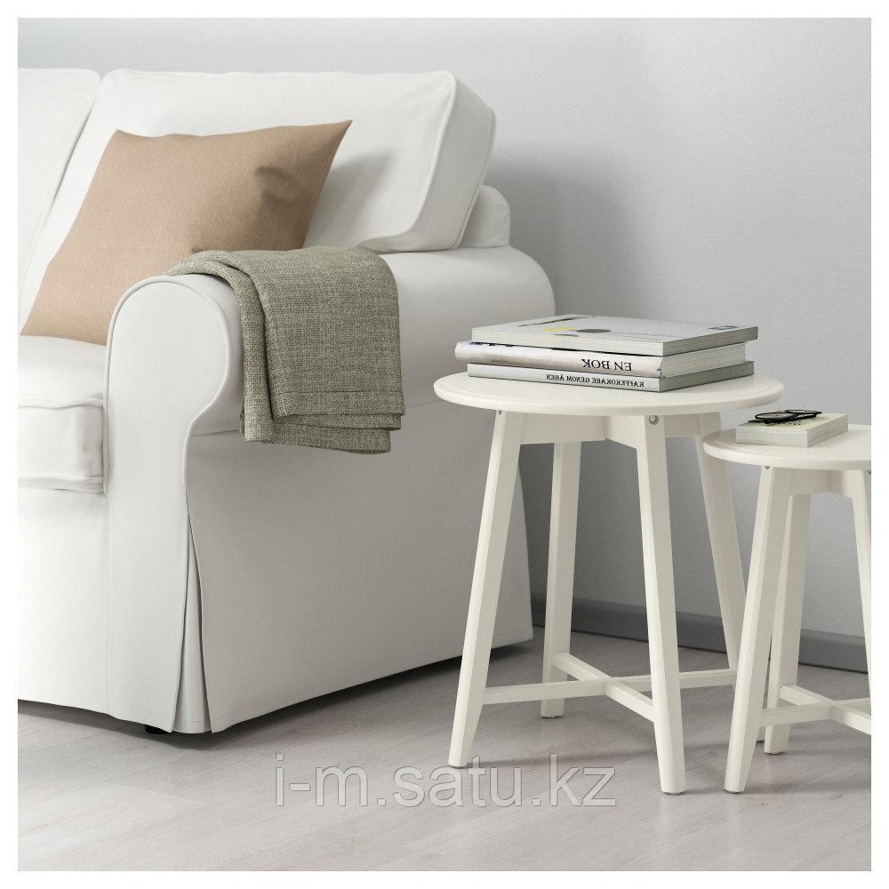 КРАГСТА Комплект столов, 2 шт, белый