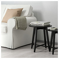 КРАГСТА Комплект столов, 2 шт, черный, фото 1