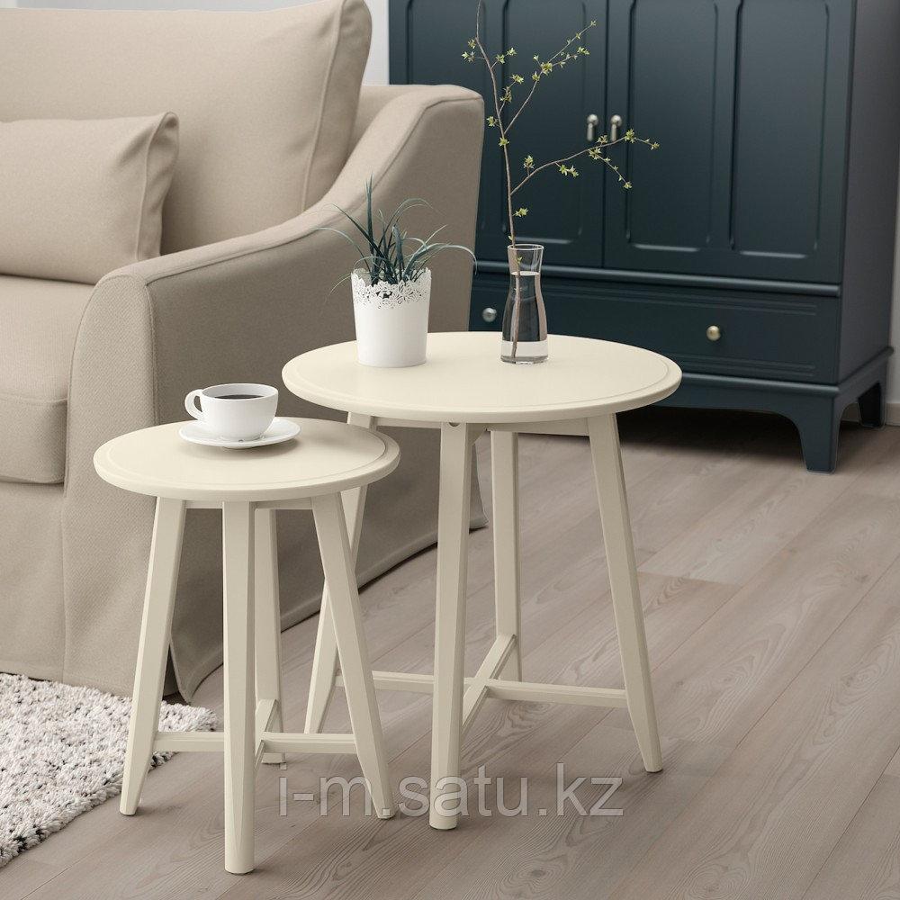 КРАГСТА Комплект столов, 2 шт, светло-бежевый