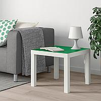 ЛАКК Придиванный столик, белый, зеленый, 55x55 см