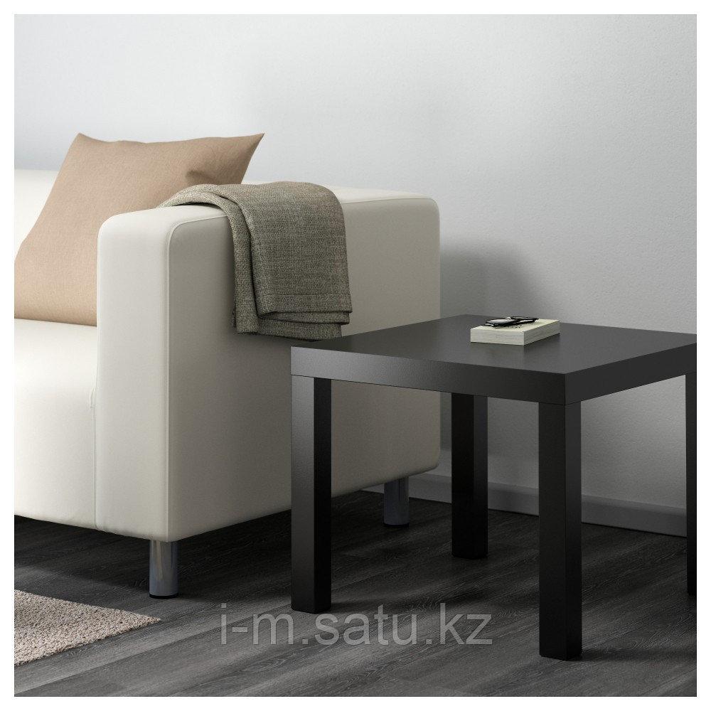 ЛАКК Придиванный столик, черный, 55x55 см