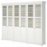 ЛИАТОРП Комбинация для хранения с дверцами, белый, 276x214 см