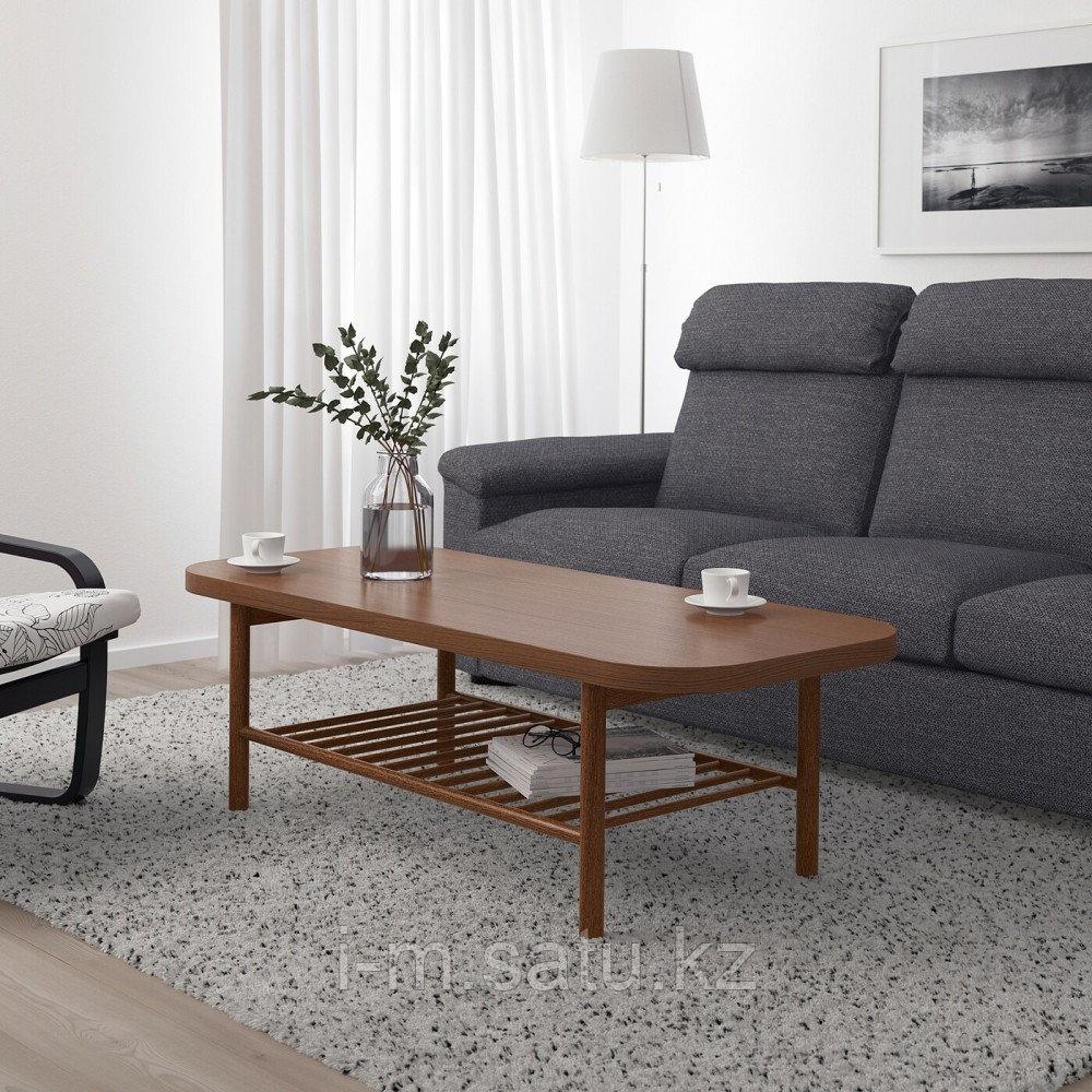 ЛИСТЕРБИ Журнальный стол, коричневый, 140x60 см