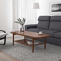 ЛИСТЕРБИ Журнальный стол, коричневый, 140x60 см, фото 1