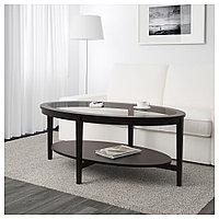 МАЛМСТА Журнальный стол, черно-коричневый, 130x80 см, фото 1
