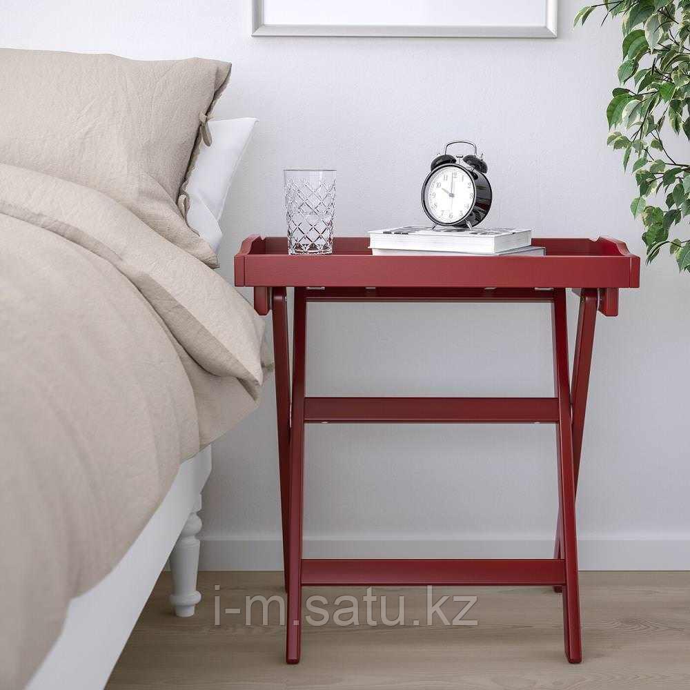 МАРЮД Стол сервировочный, темно-красный, 58x38x58 см