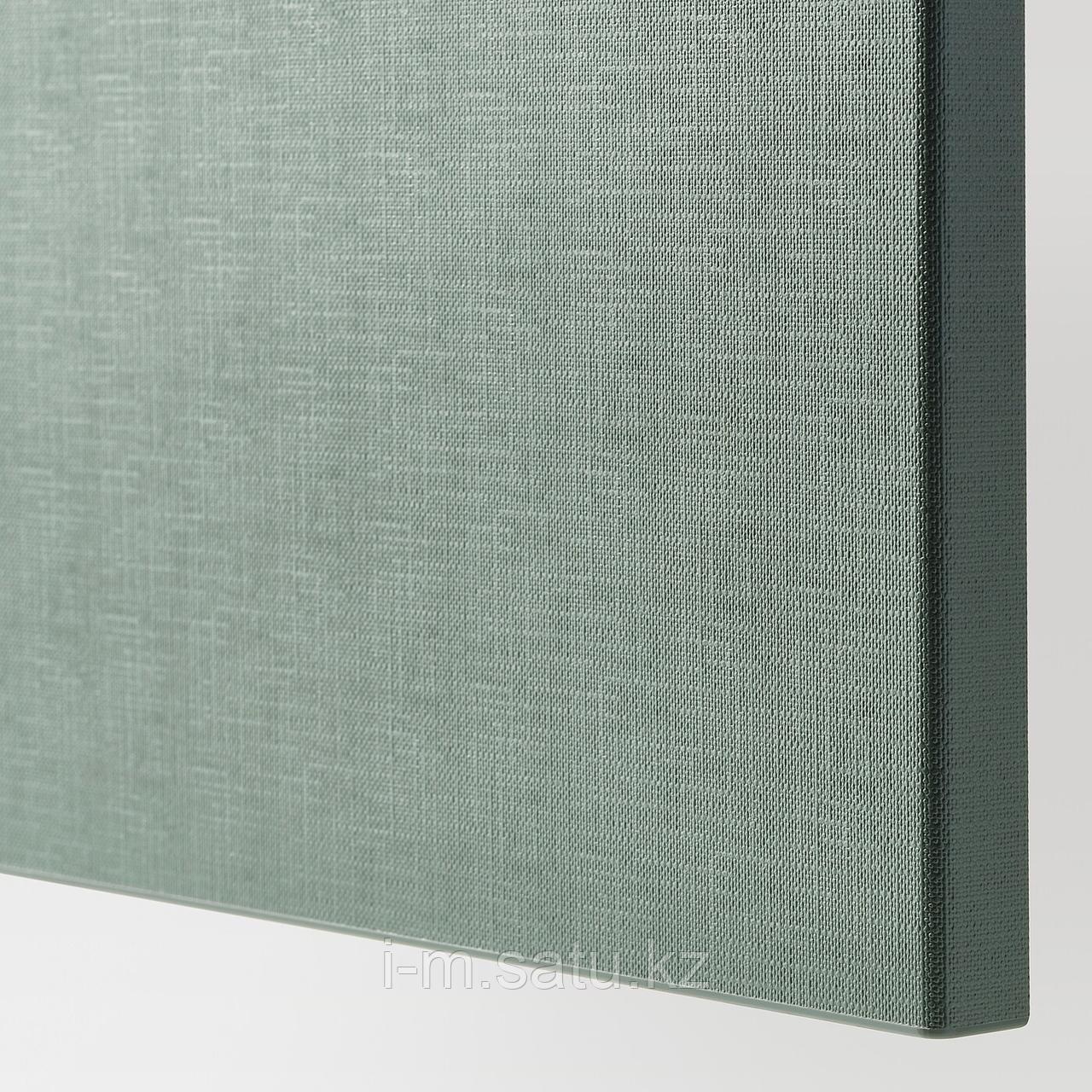 НОТВИКЕН Фронтальная панель ящика, серо-зеленый, 60x26 см