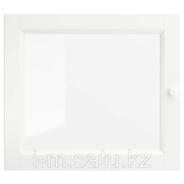 ОКСБЕРГ Стеклянная дверь, белый, 40x35 см