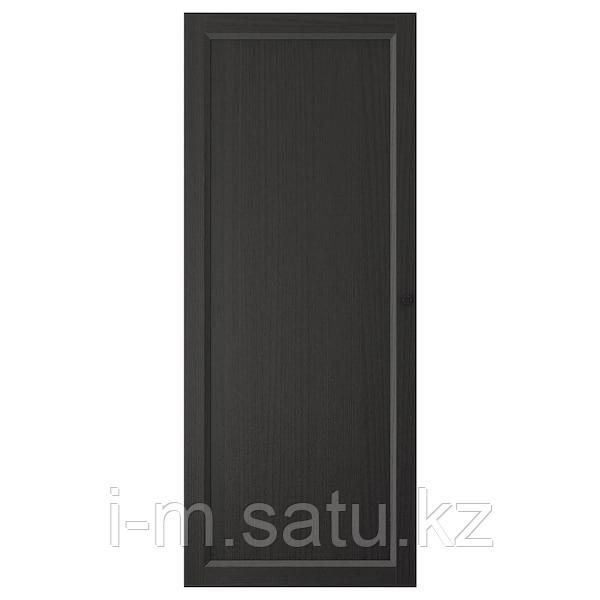 ОКСБЕРГ Дверь, черно-коричневый, 40x97 см