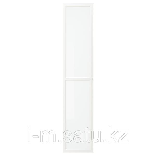 ОКСБЕРГ Стеклянная дверь, белый, 40x192 см