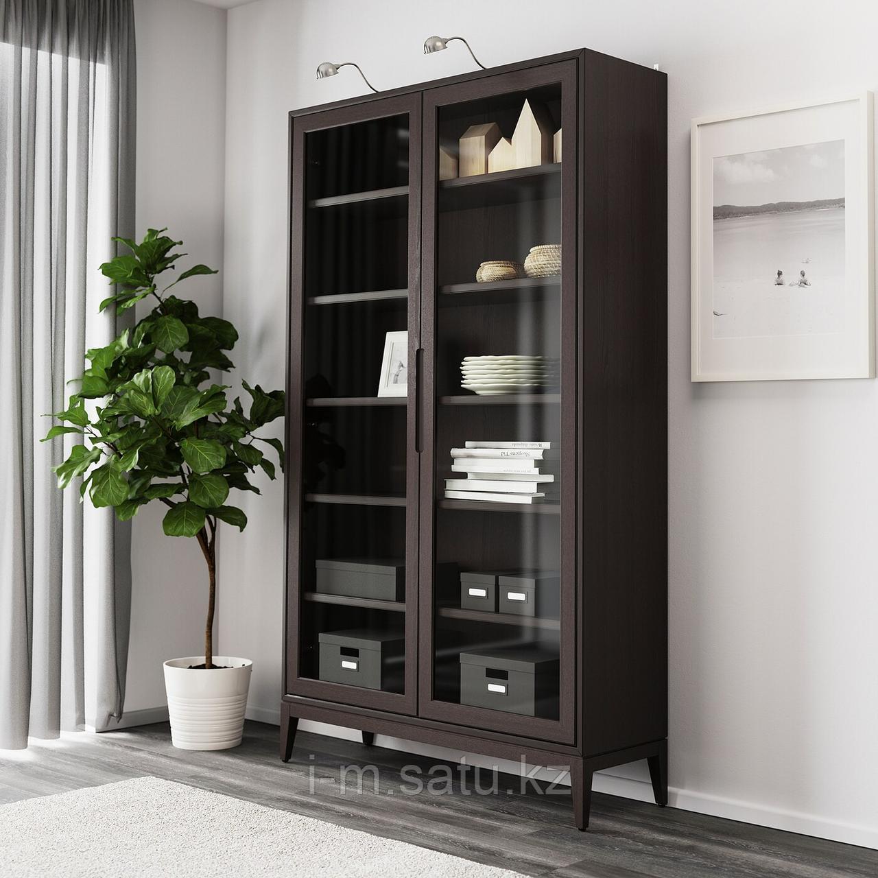 РЕЖИССЁР Шкаф-витрина, коричневый, 118x203 см