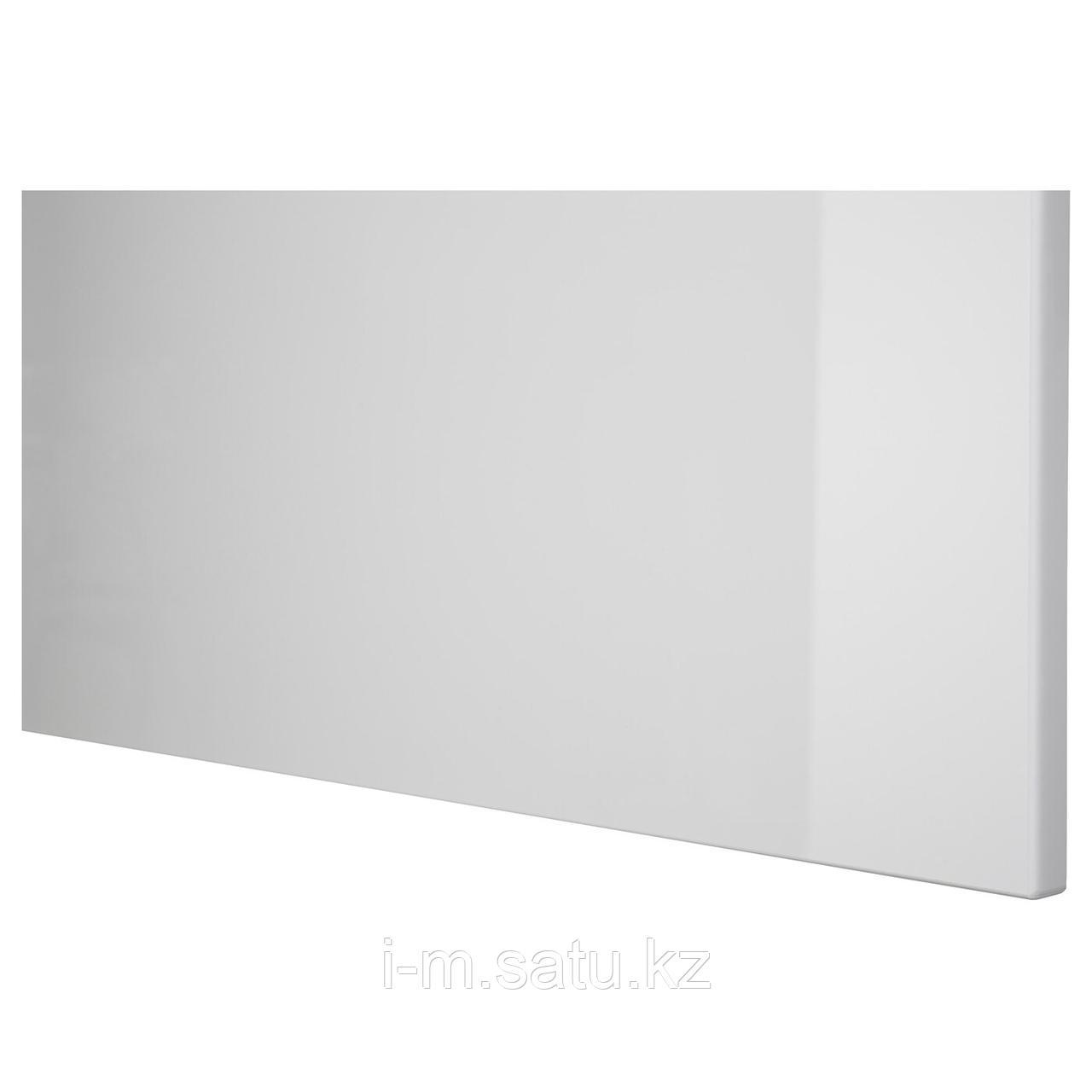 СЕЛЬСВИКЕН Фронтальная панель ящика, глянцевый светло-серый, 60x26 см