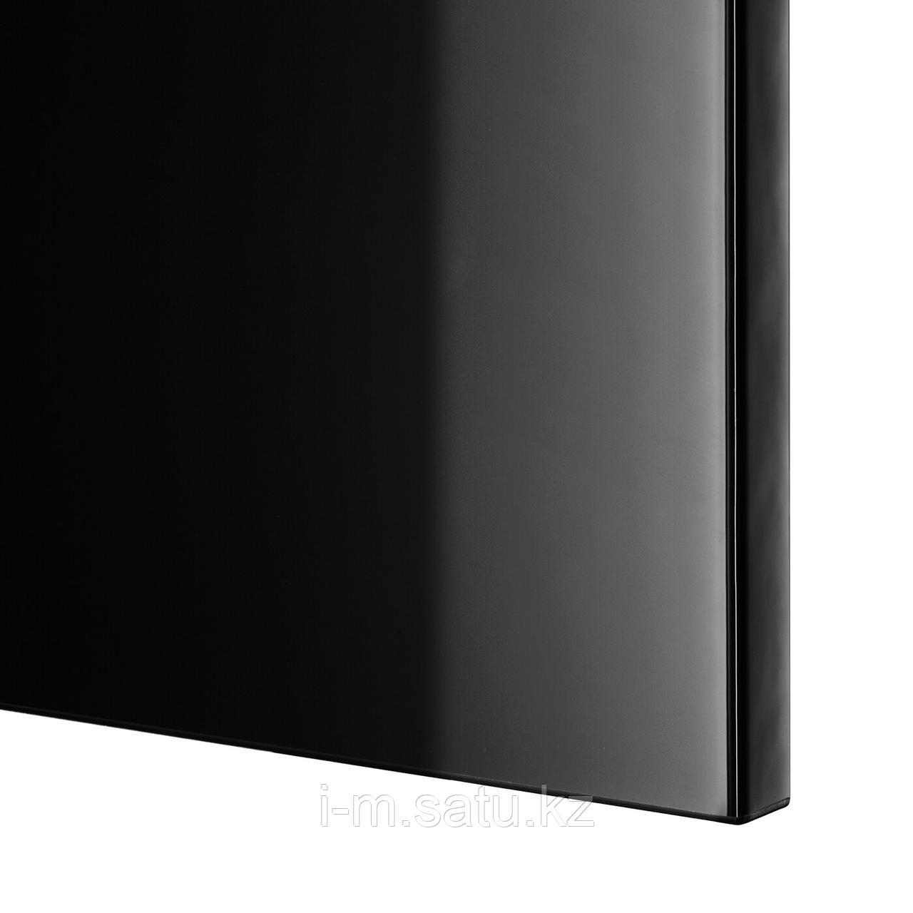 СЕЛЬСВИКЕН Фронтальная панель ящика, глянцевый черный, 60x26 см