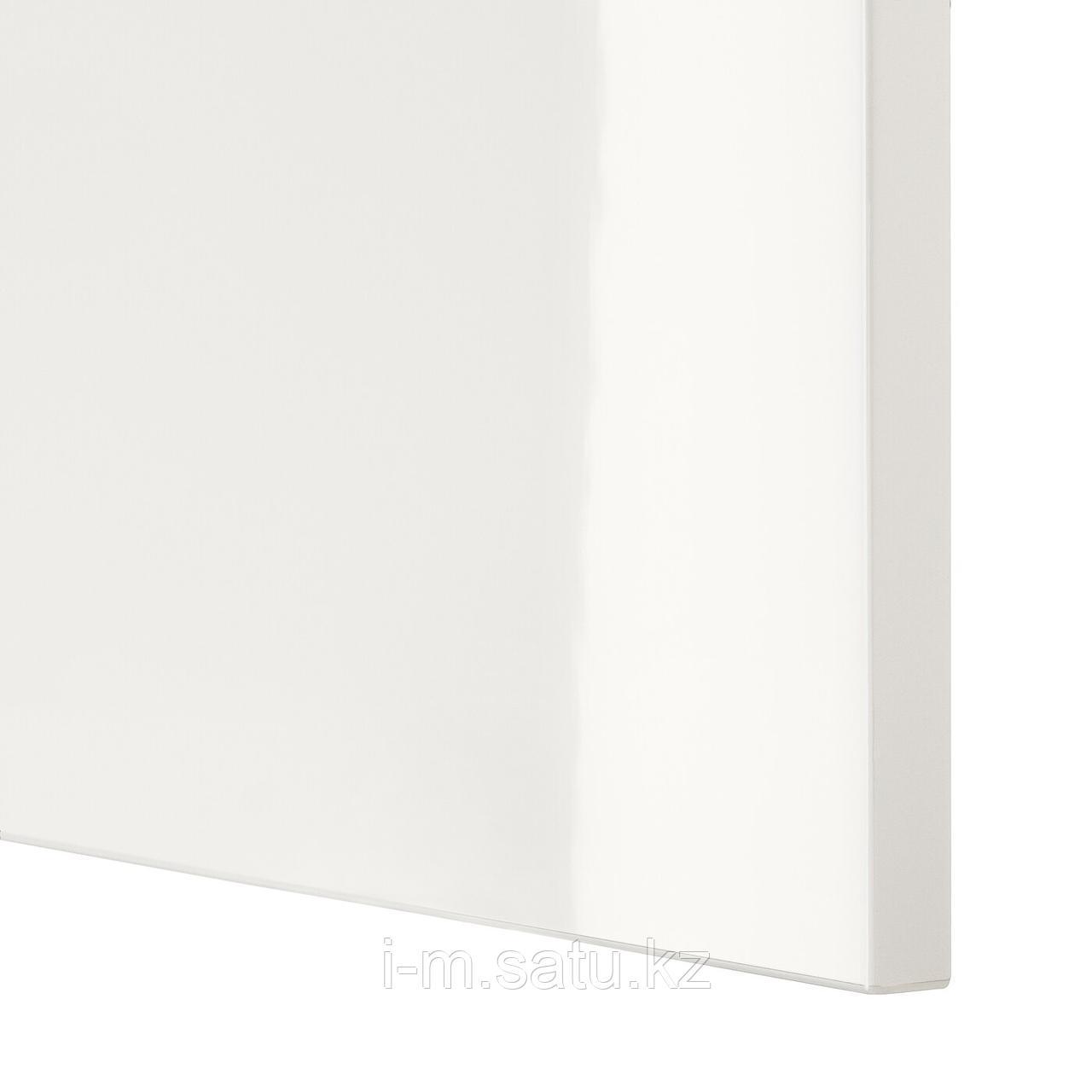 СЕЛЬСВИКЕН Дверь/фронтальная панель ящика, глянцевый белый, 60x38 см