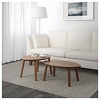 СТОКГОЛЬМ Комплект столов, 2 шт, шпон грецкого ореха, фото 1