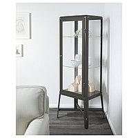 ФАБРИКОР Шкаф-витрина, темно-серый, 57x150 см, фото 1
