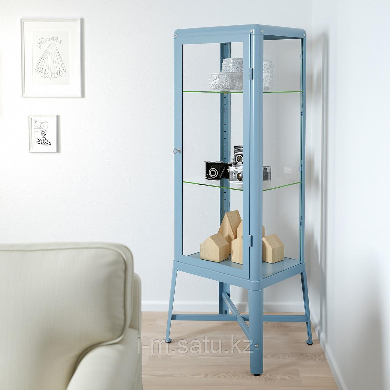 ФАБРИКОР Шкаф-витрина, синий, 57x150 см
