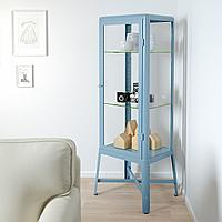 ФАБРИКОР Шкаф-витрина, синий, 57x150 см, фото 1
