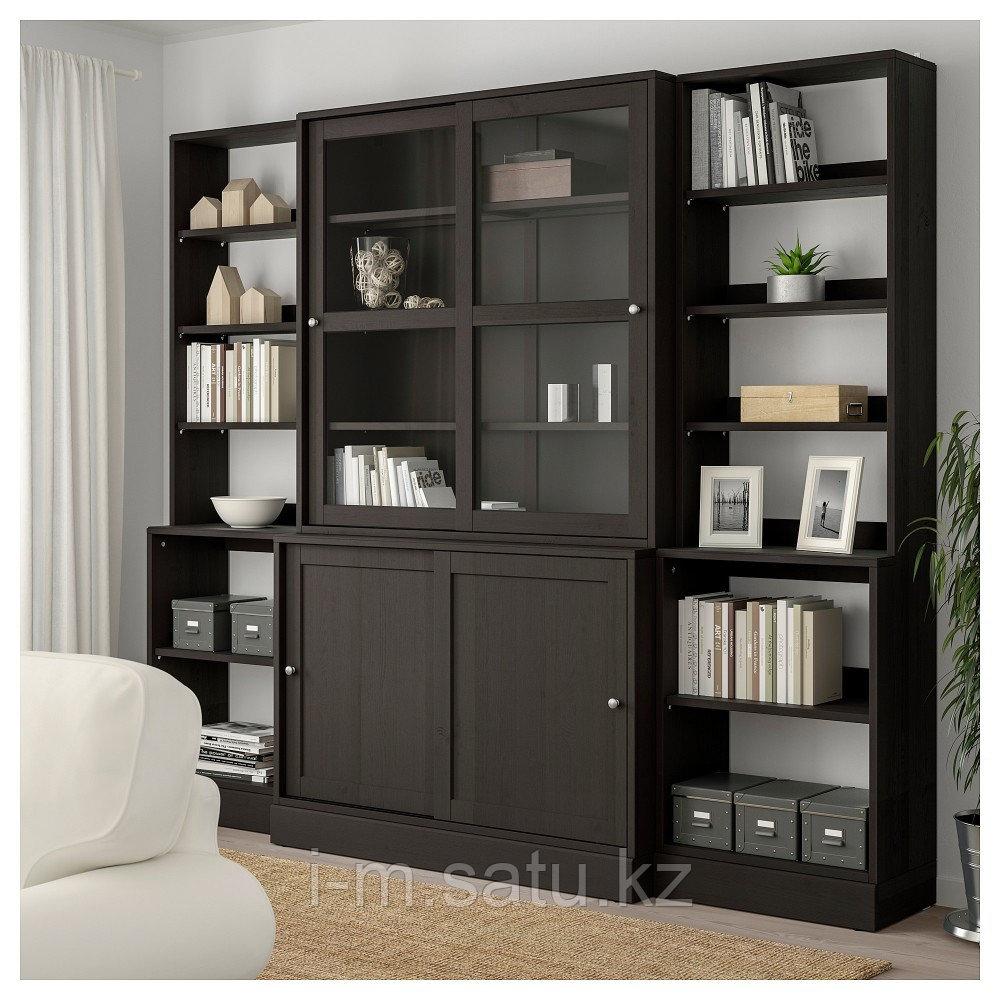 ХАВСТА Комбинация с раздвижными дверьми, темно-коричневый, 243x47x212 см