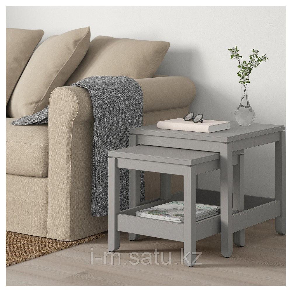 ХАВСТА Комплект столов, 2 шт, серый