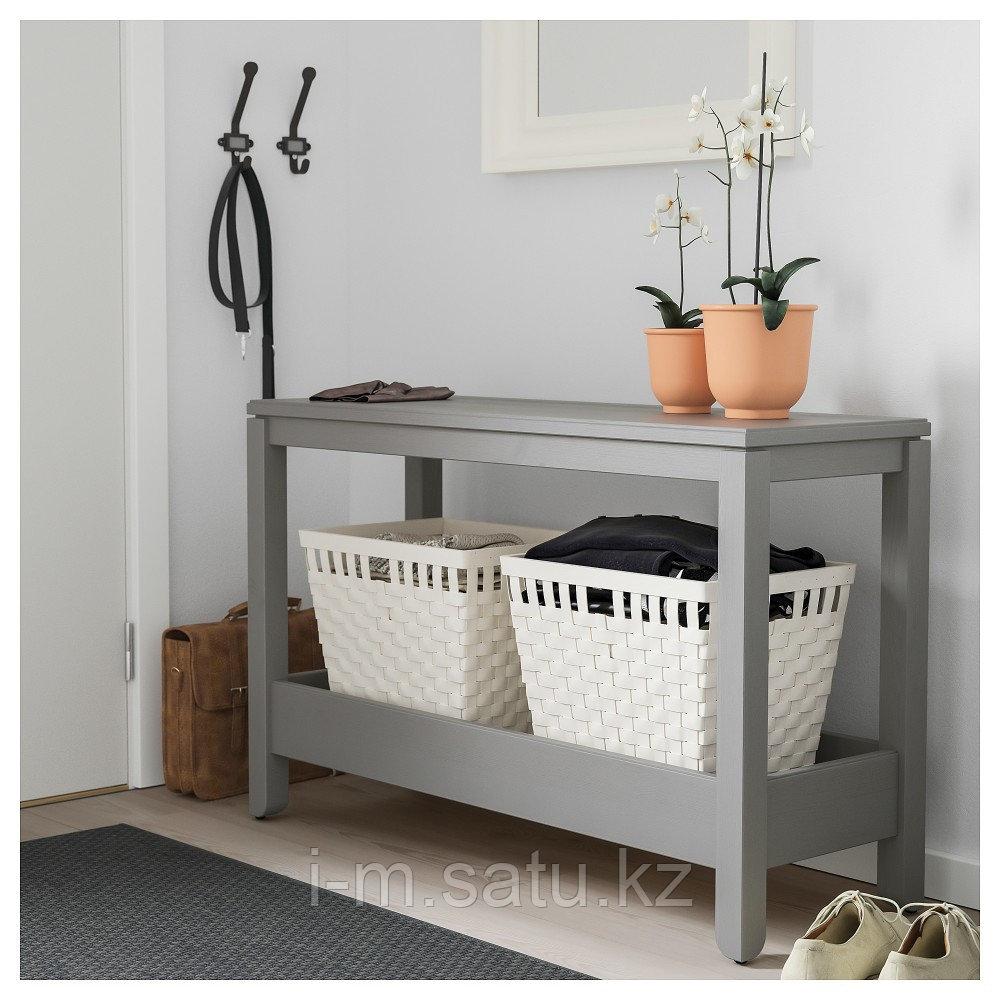 ХАВСТА Консольный стол, серый, 100x35x63 см