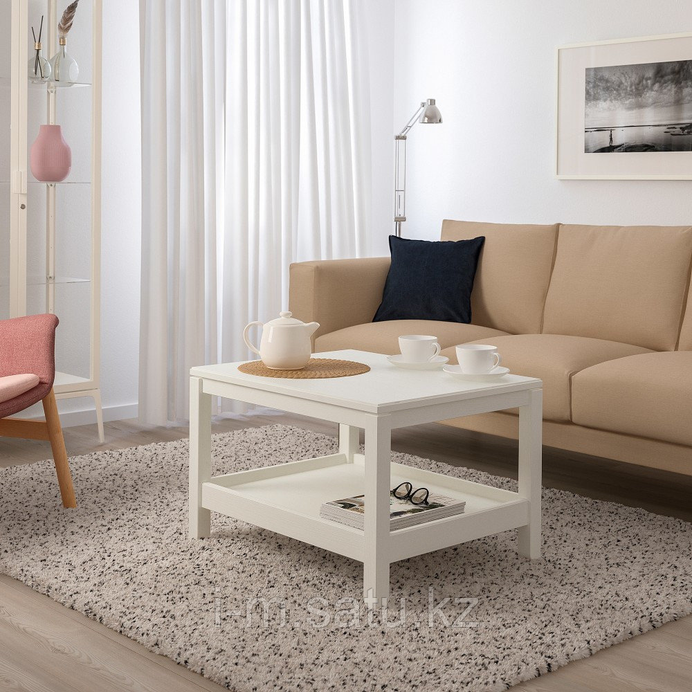 ХАВСТА Журнальный стол, белый, 75x60 см