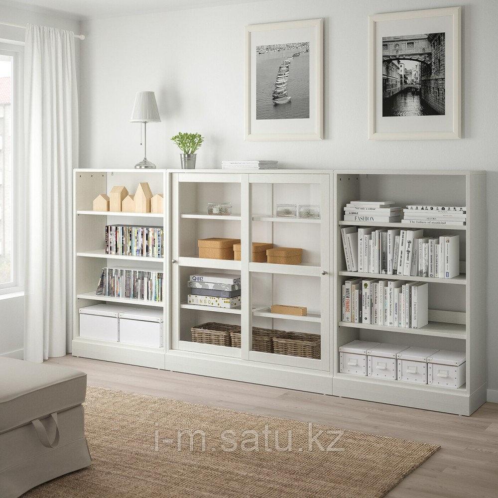 ХАВСТА Комбинация с раздвижными дверьми, белый, 283x37x134 см