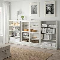 ХАВСТА Комбинация с раздвижными дверьми, белый, 283x37x134 см, фото 1