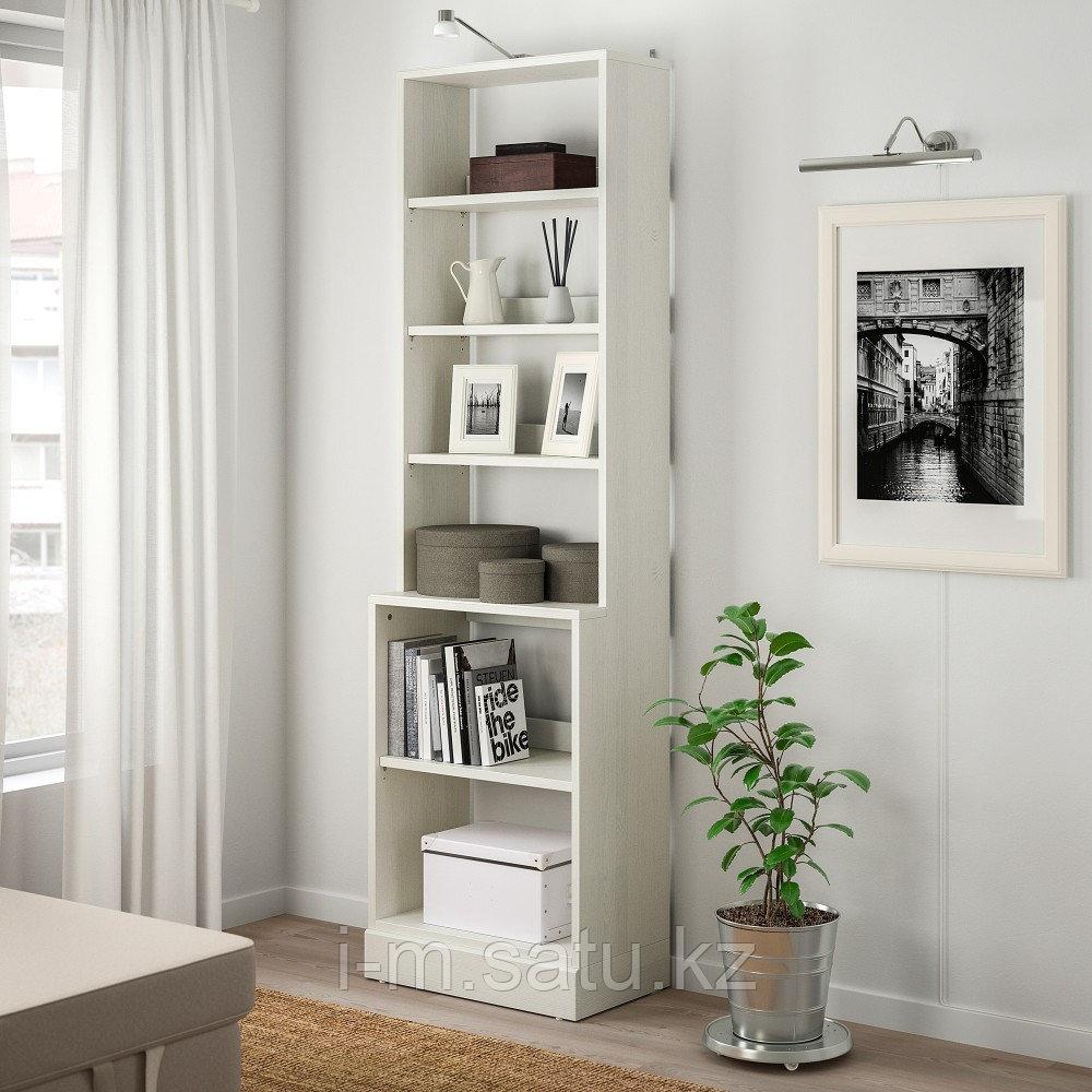 ХАВСТА Стеллаж с цоколем, белый, 61x37x212 см