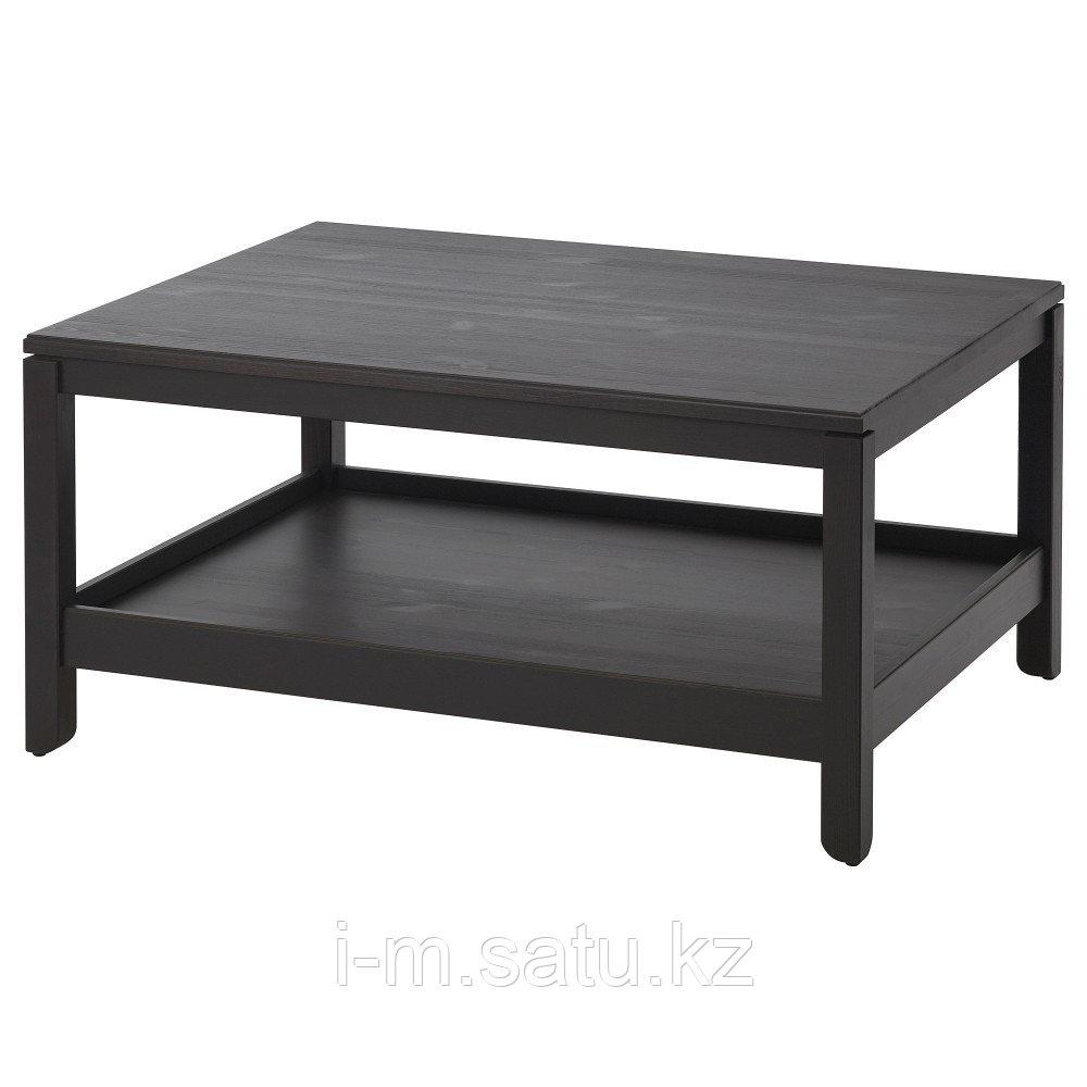 ХАВСТА Журнальный стол, темно-коричневый, 100x75 см