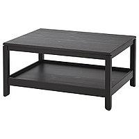 ХАВСТА Журнальный стол, темно-коричневый, 100x75 см, фото 1