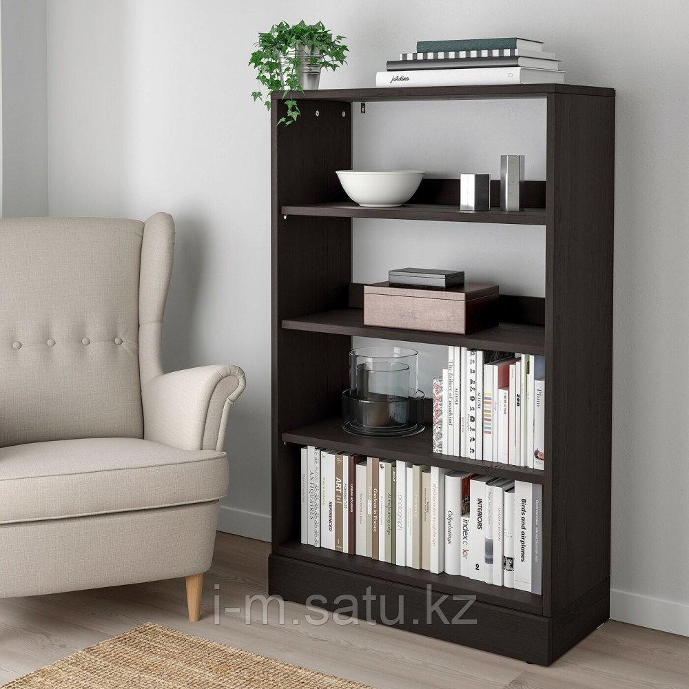 ХАВСТА Стеллаж с цоколем, темно-коричневый, 81x37x134 см