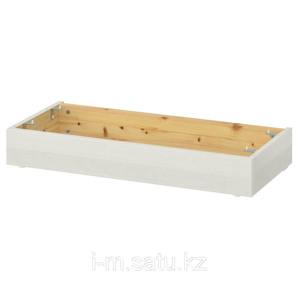 ХАВСТА Цоколь, белый, 81x37x12 см
