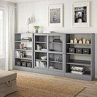ХАВСТА Комбинация с раздвижными дверьми, серый, 283x37x134 см, фото 1