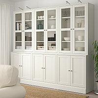 ХАВСТА Комбинация для хранения с сткл двр, белый, 243x47x212 см, фото 1