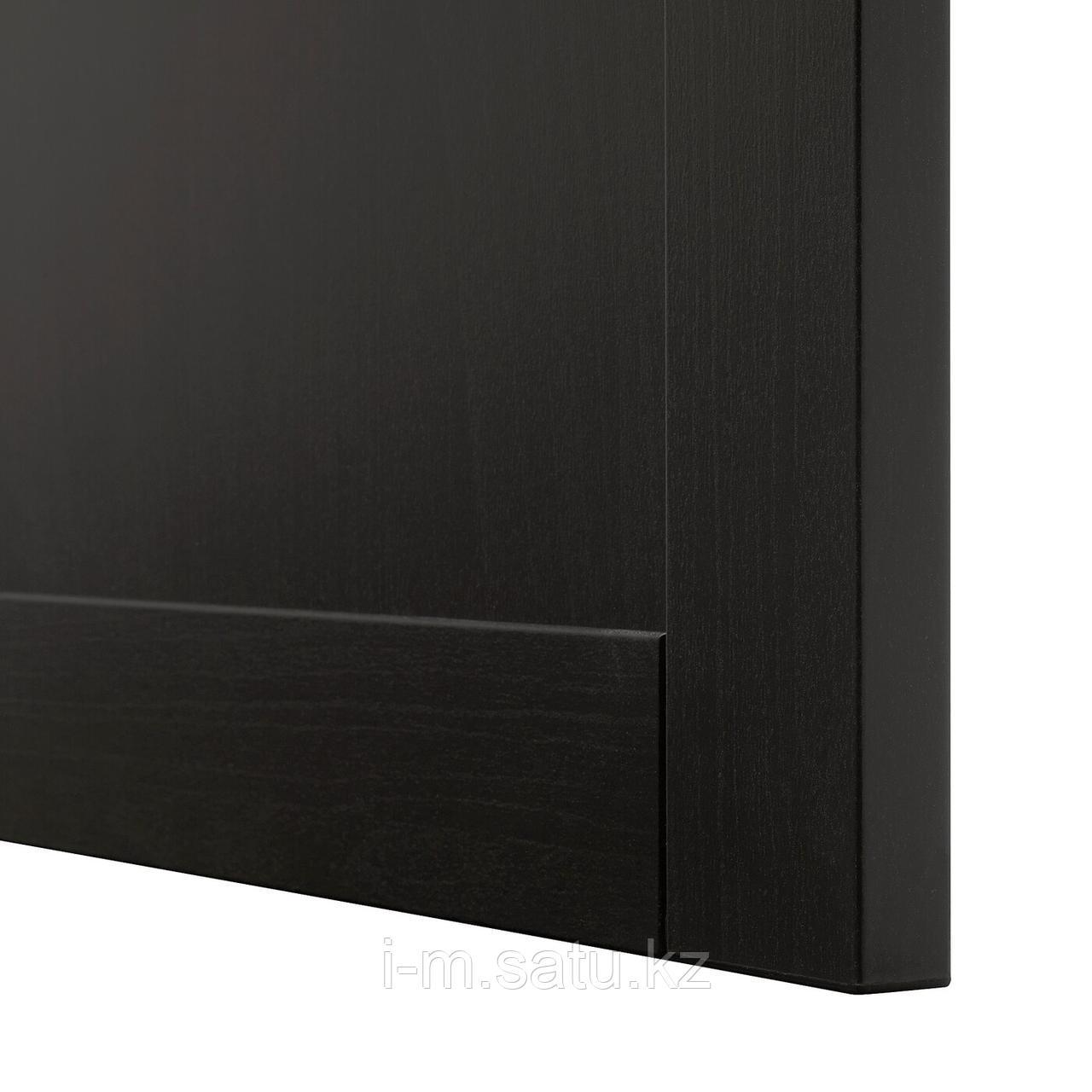 ХАНВИКЕН Дверь/фронтальная панель ящика, черно-коричневый, 60x38 см