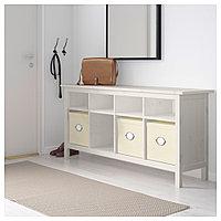 ХЕМНЭС Консольный стол, белая морилка, 157x40 см, фото 1