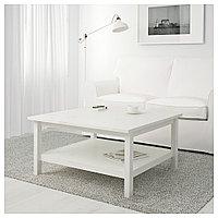 ХЕМНЭС Журнальный стол, белая морилка, 90x90 см, фото 1
