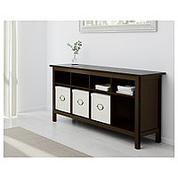 ХЕМНЭС Консольный стол, черно-коричневый, 157x40 см, фото 1