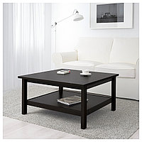 ХЕМНЭС Журнальный стол, черно-коричневый, 90x90 см, фото 1